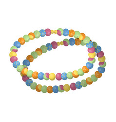 colored beadshippy single icon in cartoon style vector image