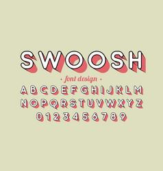 retro style font design vector image vector image
