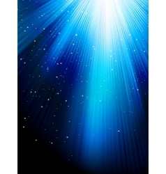 Stars on blue striped background EPS 8 vector image