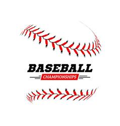 baseball ball on white background vector image