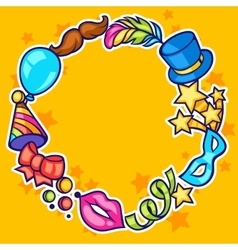 Celebration festive frame with carnival icons and vector