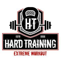 hard training vector image