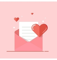 Love letter greeting card invitation isolated on vector image
