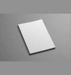 mockup for the presentation of the brochure vector image