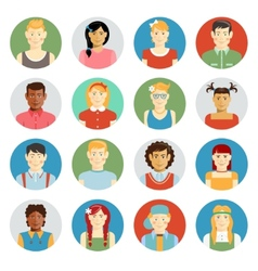 Smiling children avatar set vector image vector image