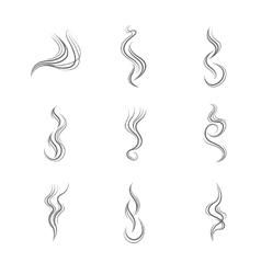 Smoke lines set vector image
