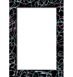 Abstract dark frame with scribbles vector image vector image