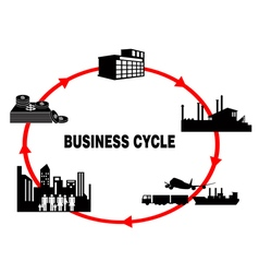 business cycle vector image vector image