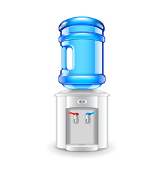 office water cooler isolated on white vector image