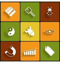 Universal Flat Icons vector image