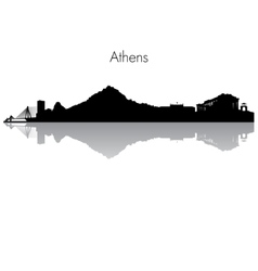 Athens skyline vector image vector image