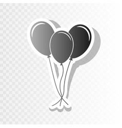 balloons set sign new year blackish icon vector image vector image