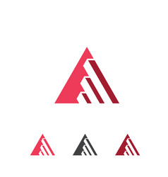 inspiring triangle business growth logo vector image vector image
