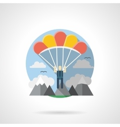 Parachuting color detailed icon vector image