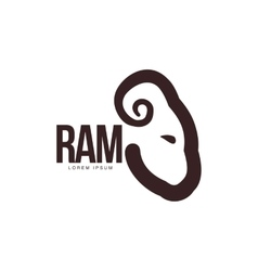 Ram sheep lamb head profile graphic logo vector image