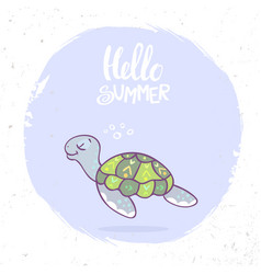 turtle summer vector image