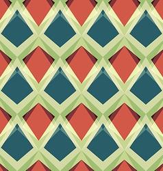 vintage mosaic seamless pattern vector image vector image