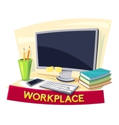 Workplace concept design vector image