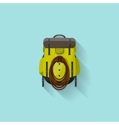 Backpack in a flat stzle vector