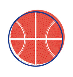 Basketball ball to training play game sport vector