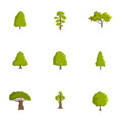 Beam icons set cartoon style vector
