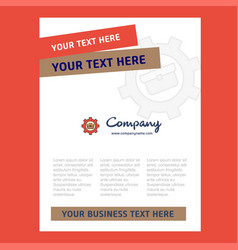 breifcase setting title page design for company vector image