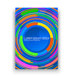 Brochure layout with colorful circles colorful vector