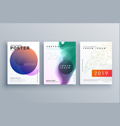 brochure templates set in minimal style for vector image
