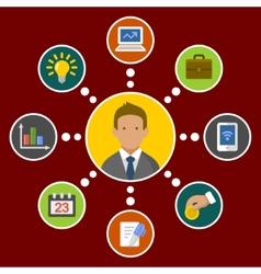business concept infographic design elements vector image