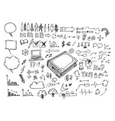 Business doodles sketch vector