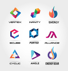 business logo design collection vector image