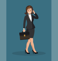business woman talking on the phone vector image