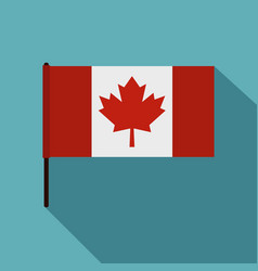 canadian flag icon flat style vector image