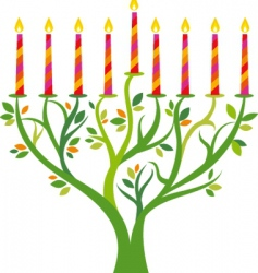 Candles in tree background vector