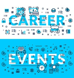 Career and Events modern heading title web banner vector