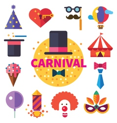 Carnival tricks sweets and smiles vector image