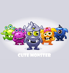 cartoon collection five cute babies vector image