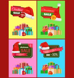 Christmas holiday posters set vector