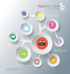 circle of Abstract business infographic background vector image vector image