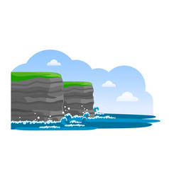 cliffs of moher irish attraction travel to vector image