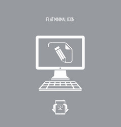 Customized document project - flat icon vector