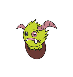 Design character monster vector