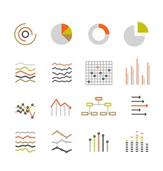 Different graphic ratings and charts Lineart vector