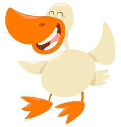 Duck farm animal character vector