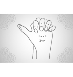 Element yoga Turtle mudra hands vector