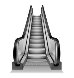 Escalator mockup realistic style vector