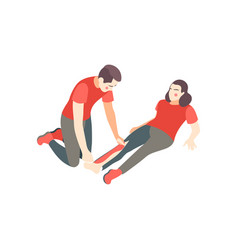 First aid splinting composition vector