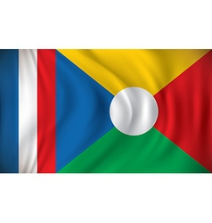 Flag of Reunion vector