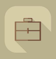 Flat icon briefcase bag business theme vector