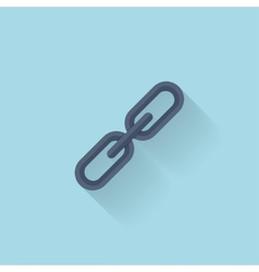 Flat web iconChain link vector